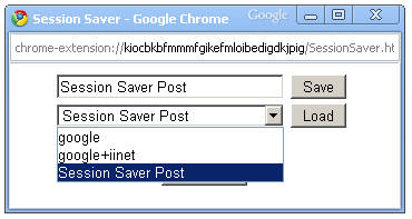 Google Chrome Session Saver Plugin
