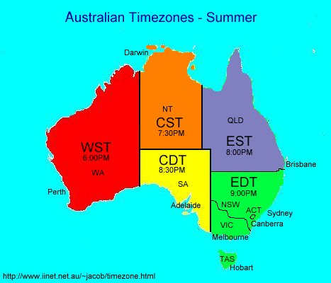 Timezones click here to look at the graphic for the five australian timezones during summer sciox Image collections