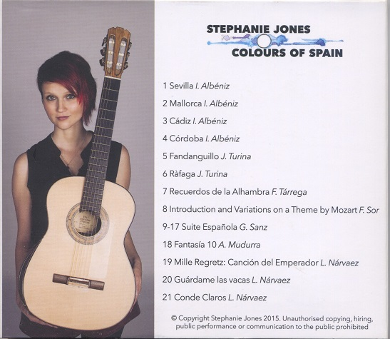 Colours of Spain - back cover