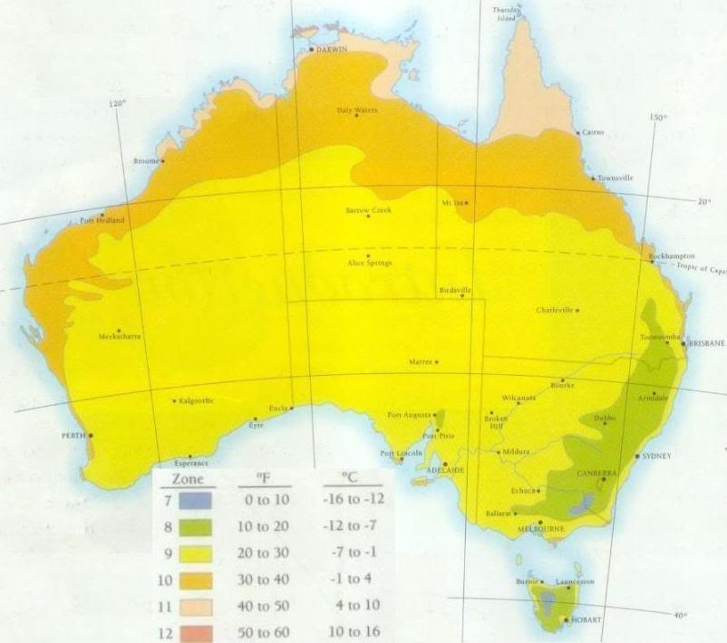 Zone Hardiness Map Page