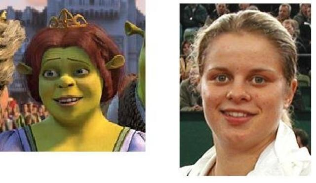 Image result for kim clijsters mrs shrek