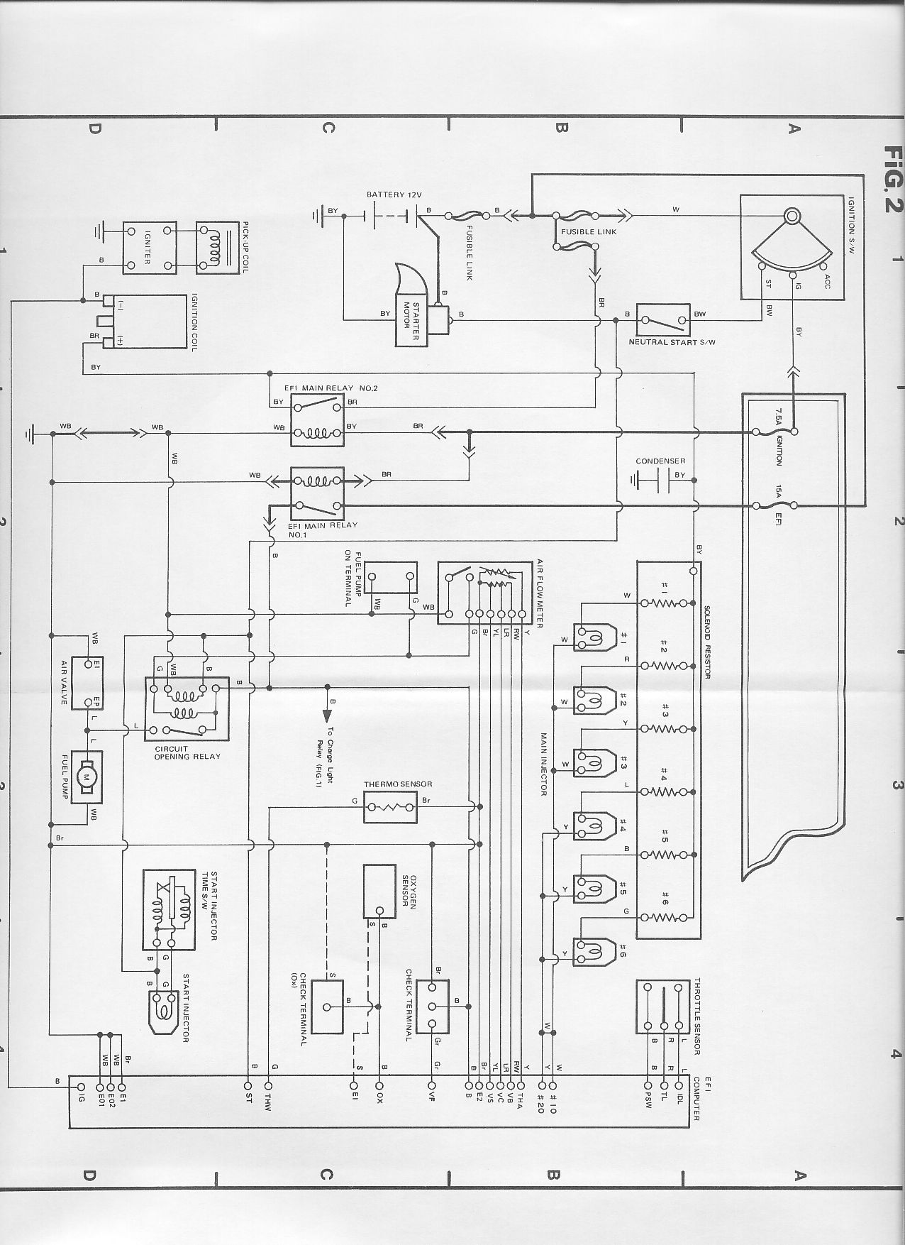 1985 toyota cressida engine diagram
