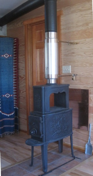 wood stove hot water heater
