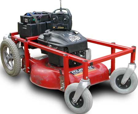 radio controlled lawnmower