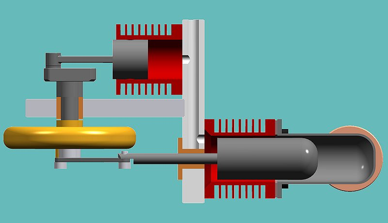 Coffee table stirling engines Cad models