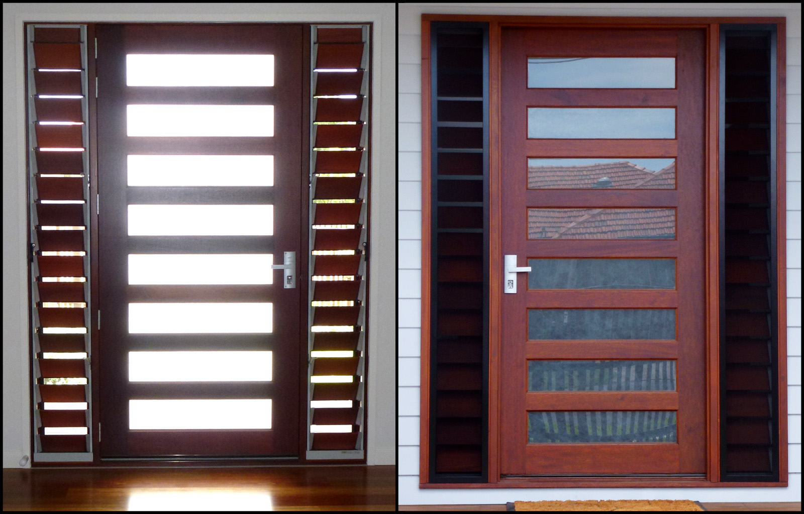 View topic what colour aluminium flyscreen frames with for Door frame with side window